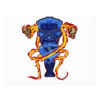 Skulls and Tikis Postcard