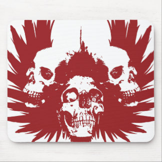 Skulls and Wing - Red Mouse Pad