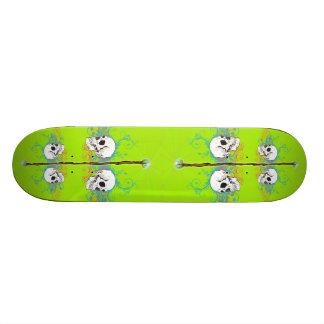 Skulls and Wizard's Staff Skateboard