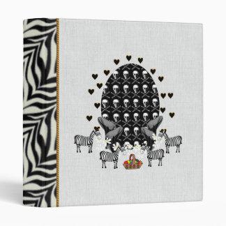 Skulls and Zebras Easter Egg 3 Ring Binder