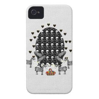 Skulls and Zebras Easter Egg iPhone 4 Case
