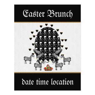 Skulls and Zebras Easter Egg Custom Flyer