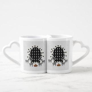 Skulls and Zebras Easter Egg Couples Mug