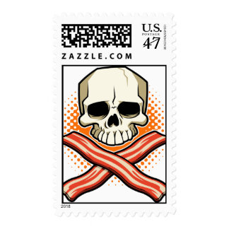 Skulls & Bacon Stamp