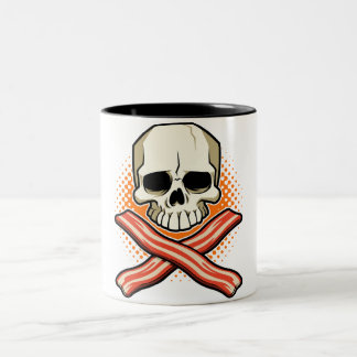 Skulls & Bacon Two_Tone Mug