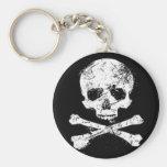 skulls basic round button keychain