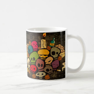 skulls becomes bald coffee mug