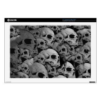 Skulls (black and white) laptop decals