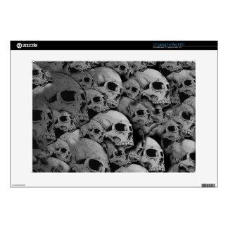 Skulls (black and white) laptop skins