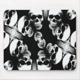 Skulls Black & White Mouse Pad