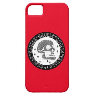 Skulls Black & White Negative 3 iPhone 5 Case