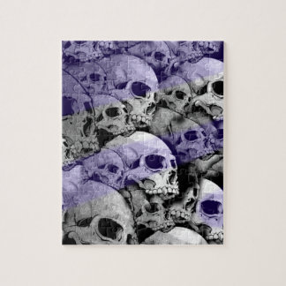 Skulls (blue highlights) jigsaw puzzle