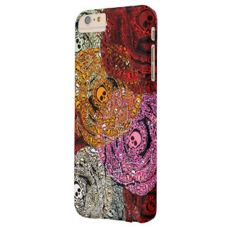 Skulls & Bones Colorful Flowers Roses Bouquet Barely There iPhone 6 Plus Case