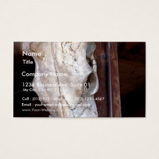 Skulls Bones Horns Cows Business Card
