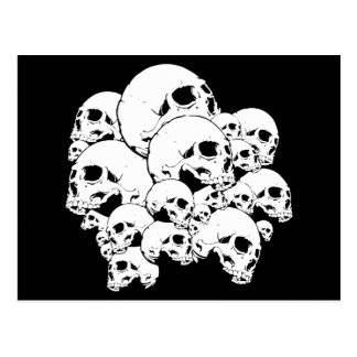 Skulls Bunch Postcard