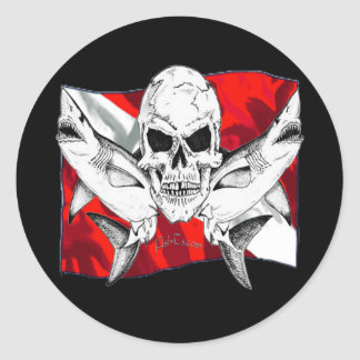 Skulls Collection by DiversDen Classic Round Sticker