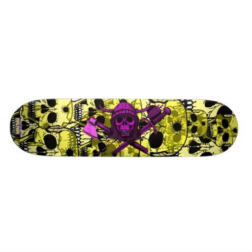 Skulls cool skateboard design