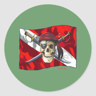 Skulls Dive Collectioin Classic Round Sticker