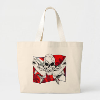 Skulls Dive Collectioin Large Tote Bag