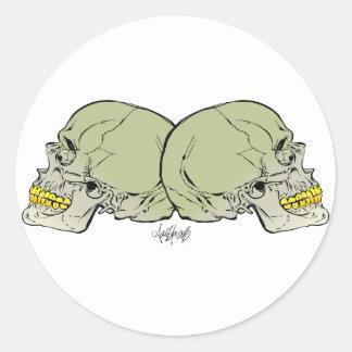 Skulls Duo Classic Round Sticker