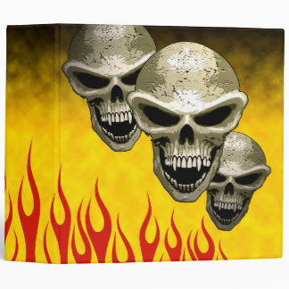 Skulls Flaming Binder