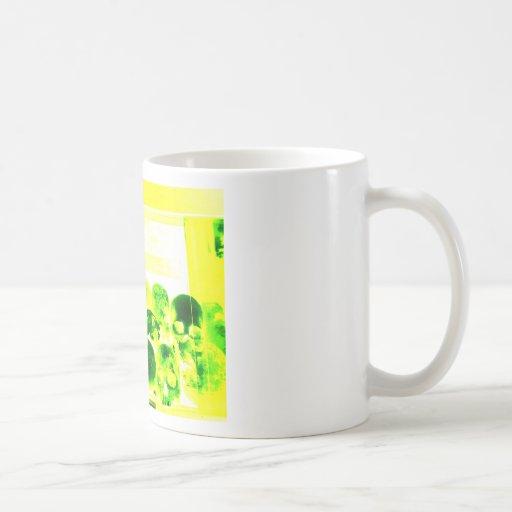 Skulls Green & Yellow Coffee Mugs