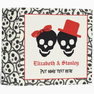 Skulls Halloween black red wedding binder