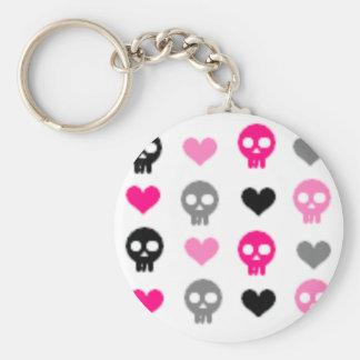 Skulls & Hearts Keychain