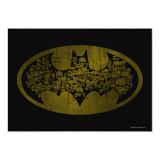 Skulls in Bat Symbol 5x7 Paper Invitation Card