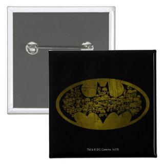 Skulls in Bat Symbol Pin
