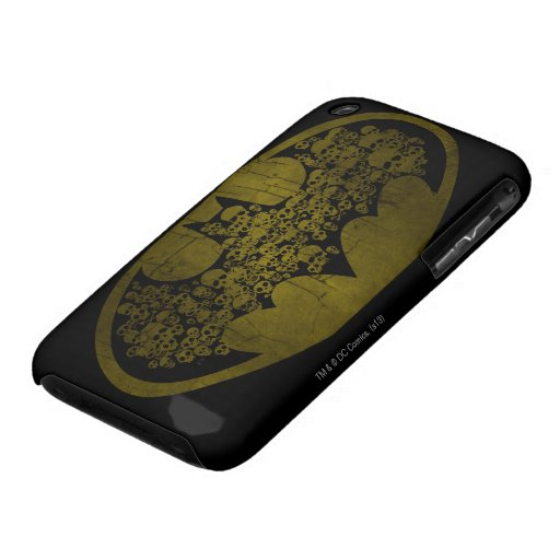 Skulls in Bat Symbol iPhone 3 Covers