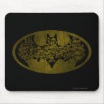 Skulls in Bat Symbol Mouse Pad