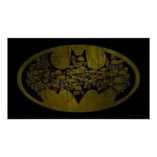 Skulls in Bat Symbol Poster