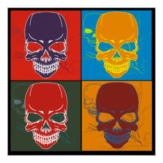 Skulls in Color Poster