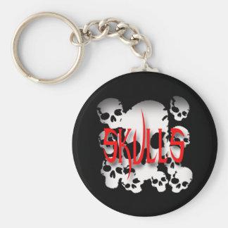 Skulls in Shadows Keychain