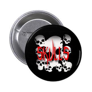 Skulls in Shadows Pinback Button