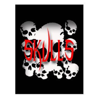 Skulls in Shadows Postcard