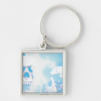 Skulls in the Clouds Keychain