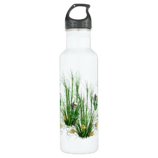 Skulls In The Weeds Stainless Steel Water Bottle