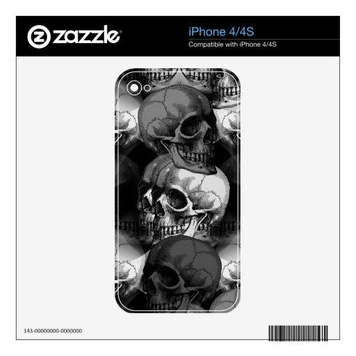 skulls iPhone 4 skin