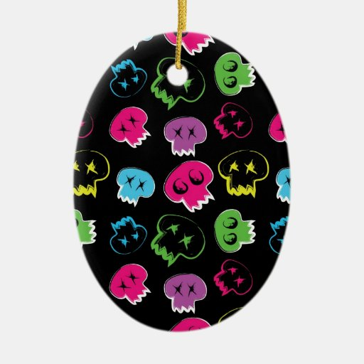 Skulls.jpg colorido ornaments para arbol de navidad
