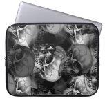 skulls laptop sleeve case