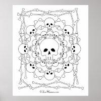 Skulls Mandala Poster