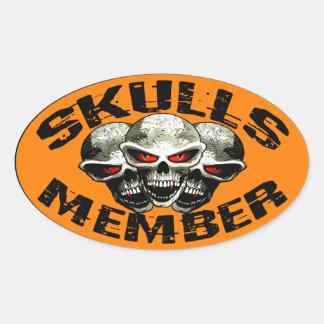 Skulls Member Sticker