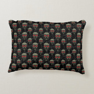 Skulls Motif Pattern Accent Pillow