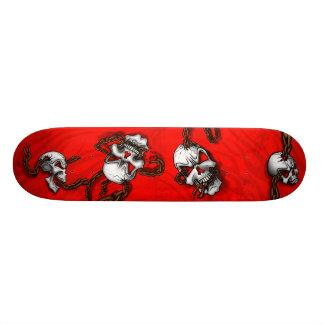 Skulls n chains skate deck