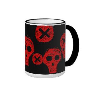 Skulls n Crosses Ringer Coffee Mug