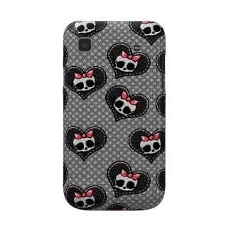 Skulls n Hearts Black Samsung Galaxy S BarelyThere casematecase