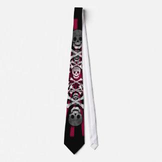 skulls neck tie