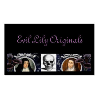 Skulls Nuns and Lilies Business Cards